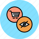 access, cart, disable, online, report, shopping, view icon