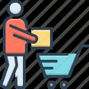 clientele, consumer, customer, purchaser, regular shopper, shopping, underwriter