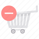 cart, close, delete, online, remove, trash, trolley icon