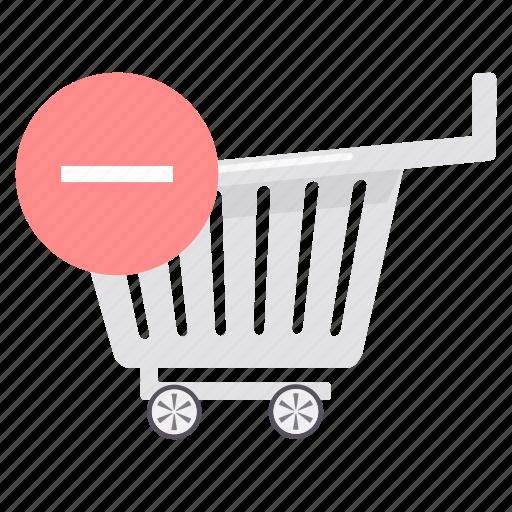 cart, close, delete, online, remove, trash, trolley icon