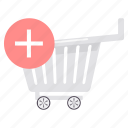 add, buy, cart, new, plus, shop, trolley icon