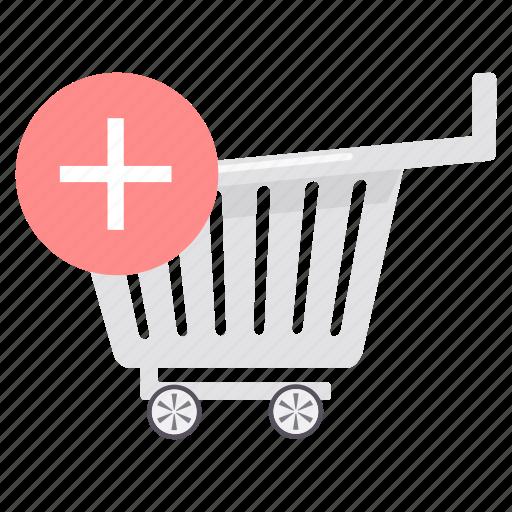 add, buy, cart, new, plus, shop, trolley icon