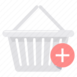 add, basket, cart, ecommerce, plus, shopping, trolley icon