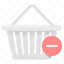 basket, cancel, cart, delete, empty, remove, trolley icon
