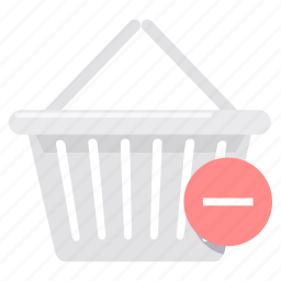 basket, cancel, cart, delete, empty, remove, trolley icon