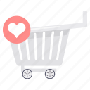 buy, cart, ecommerce, shop, shopping, store, wishlist icon