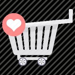 buy, cart, ecommerce, shop, shopping, store, wishlist icon