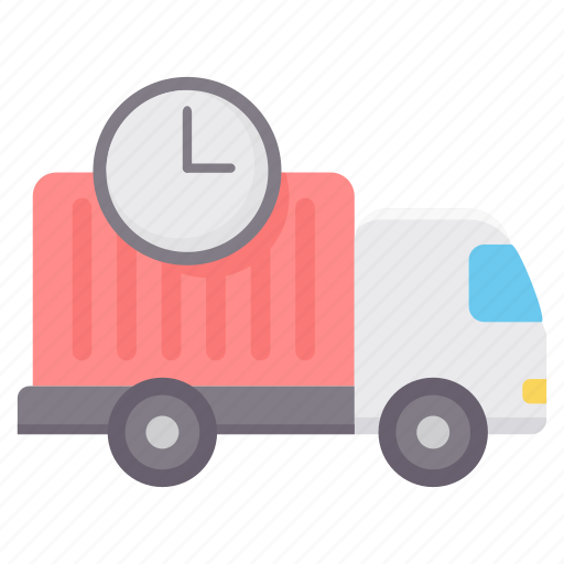 delivery, schedule, time, transport, transportation, truck, vehicle icon