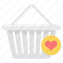 basket, business, cart, ecommerce, online, shopping, wishlist icon