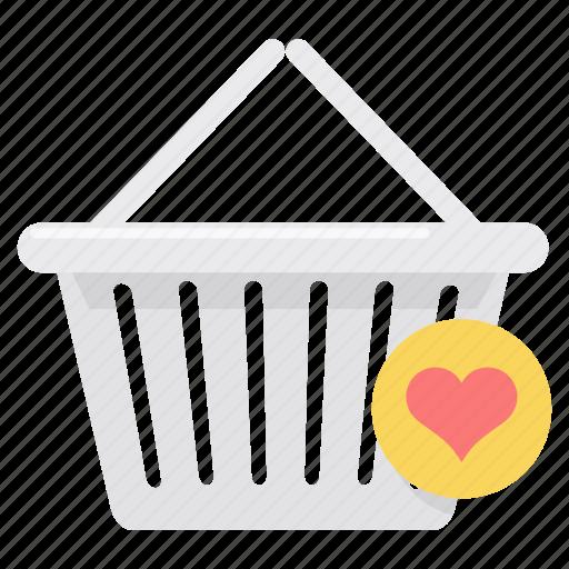 basket, business, cart, ecommerce, online, shopping, wishlist icon
