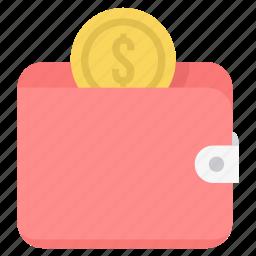 dollar, fund, guardar, money, save, saving, savings, wallet icon