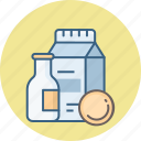 beverage, beverages, breakfast, drink, milk icon