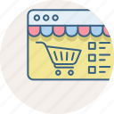 cart, design, shopping, web page, website icon