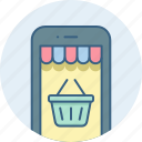 app, basket, cart, mobile, shopping icon