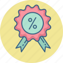 discount, offer, percent, percentage, price, tag icon