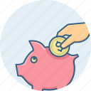 bank, budget, finance, guardar, invest, piggy, save, savings icon