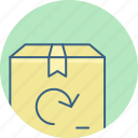 box, delivery, package, parcel, return icon