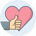 favorite, like, thumb, thumbs, up, wishlist icon