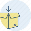 box, carton, logistic, logistics, parcel icon