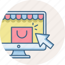 click, cursor, online, pay, per, ppc, shopping icon