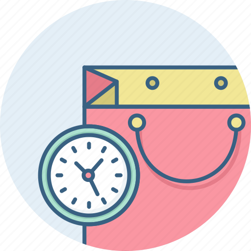 duration, sale, shopping, time, timer icon