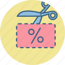 discount, price, sale, voucher icon
