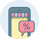 discount, mobile icon