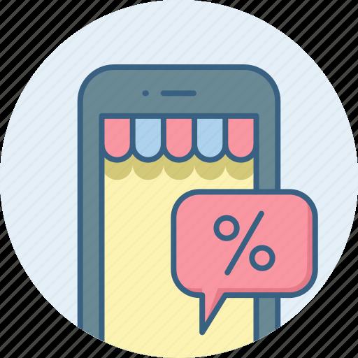discount, mobile icon