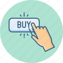 buy, click, finger, gesture, hand, sign, touch icon