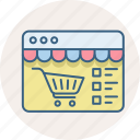 cart, checklist, items, list, shopping, website icon