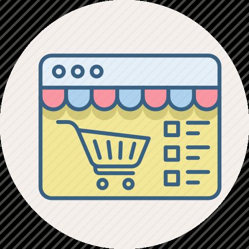 cart, checklist, items, list, shopping, website icon