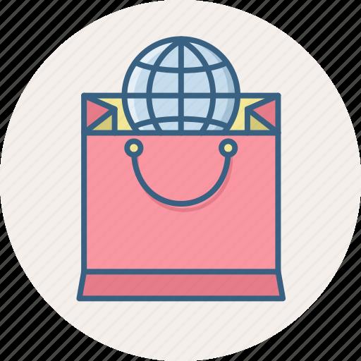 abroad, bag, cart, international, sale, shop, shopping icon
