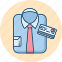 buy, card, man, pay, shirt, shop, shopping icon