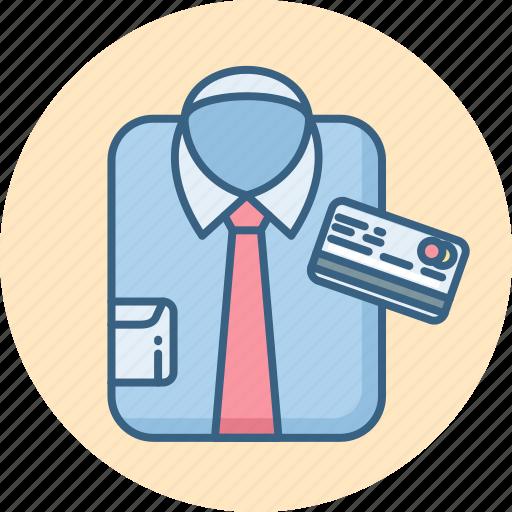 buy, card, man, pay, shirt, shop, shopping icon