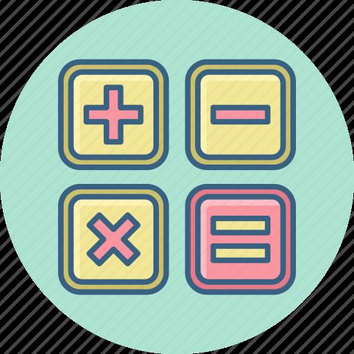 accounting, calculate, calculator, math, mathematics, mathemetic, maths icon