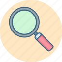 explore, magnifier, magnify, search, searching, view, zoom icon