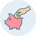 budget, funds, guardar, investment, piggy, save, saving, savings icon