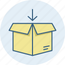 box, courier, package, parcel, product, shipping icon