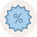 discount, label, percentage, price, sale, sign, sticker icon