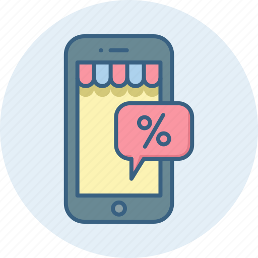 App, discount, online, phone, mobile, shopping, smartphone icon - Download on Iconfinder