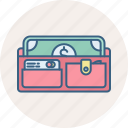 cash, finance, financial, money, payment, purse, wallet icon