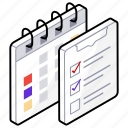 checklist, planning, schedule, task list, todo list icon
