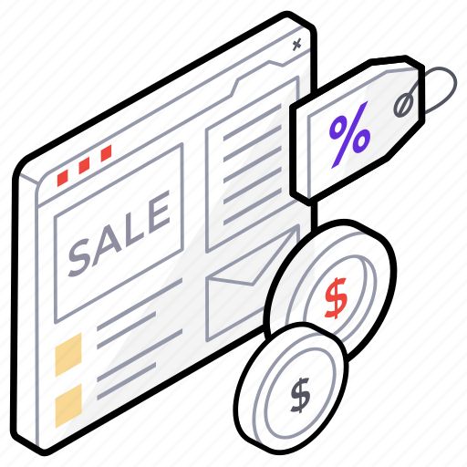 clearance sale, ecommerce, product price, sale label, web sale icon
