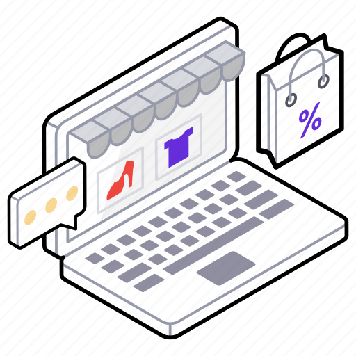 e commerce, internet shopping, online shop, online shopping, online store icon
