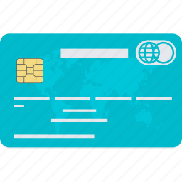 banking, card, credit, finance, flat design, payment, shopping icon