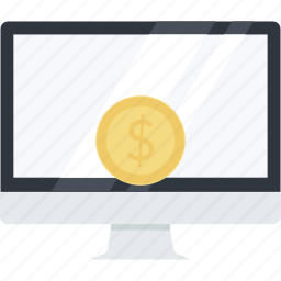 electronic, flat design, internet, money, online, payments, shopping icon
