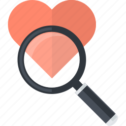 favorite, find, flat design, heart, product, search, shopping icon