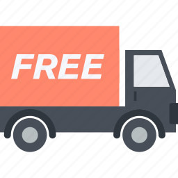 delivery, flat design, free, receive, shopping, transportation icon