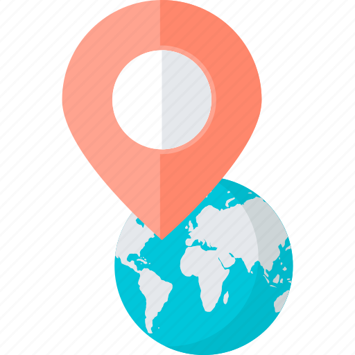 direction, flat design, location, navigation, pin, place icon