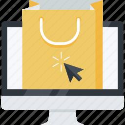 bag, ecommerce, flat design, internet, online, shop, shopping icon